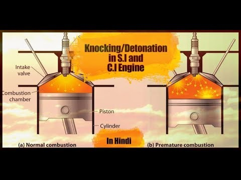13) KNOCKING/DETONATION IN S.I & C.I ENGINE || HINDI || PETROL ENGINE || DIESEL ENGINE || DIFFERENCE