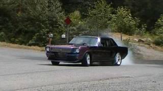 Marc's 1966 Mustang burnout