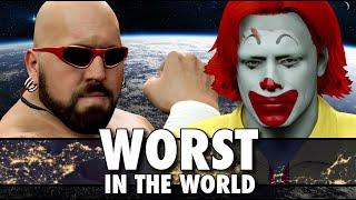 wwe 2k15 worst in the world shown michaels delzinski vs ronald mcdonald brodos