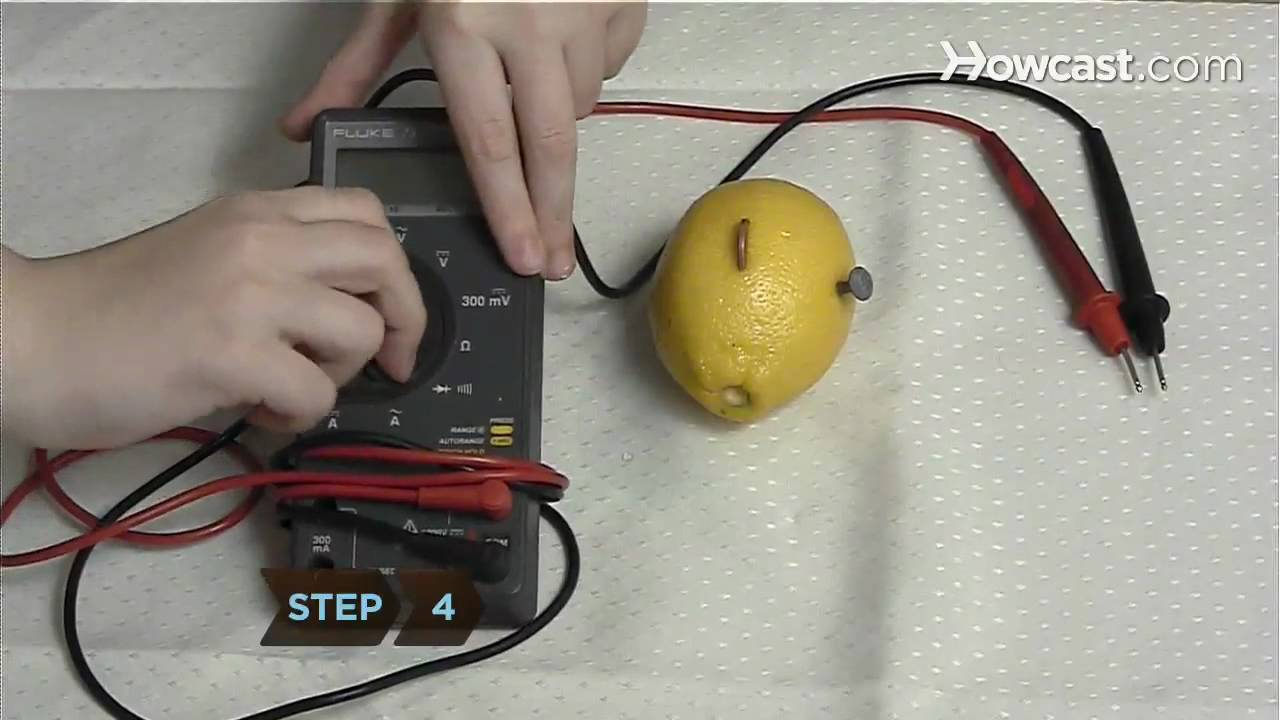 How to Power an LED with Lemons - YouTube