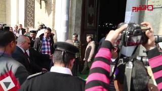 لميس الحديدي ومصطفي الفقي ومصطفي بكري في جنازة «هيكل» (اتفرج)