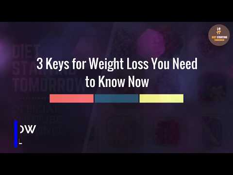 3 Keys for Weight Loss You Need to Know Now
