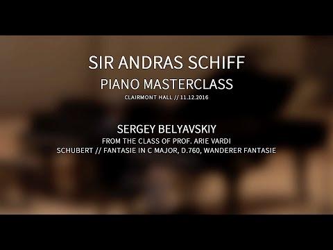 Sir Andras Schiff Masterclass with Sergey Belyavskiy