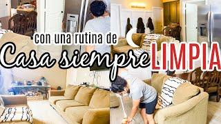CASA SIEMPRE LIMPIA , limpieza de casa limpio la sala, barrer, trapear, doblar ropa.