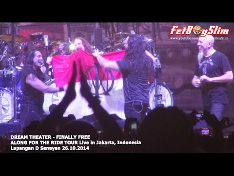 DREAM THEATER Kibarkan MERAH PUTIH - FINALLY FREE live in Jakarta 2014