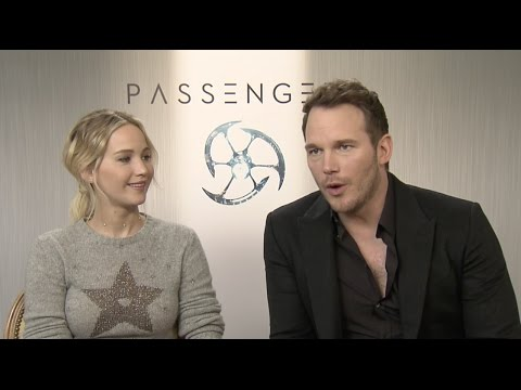"Passengers: Jennifer Lawrence ""Aurora Lane"" & Chris Pratt ""Jim Preston"" Interview"