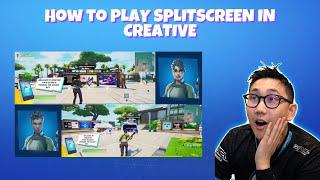 How to play splitscreen in creative GLITCH