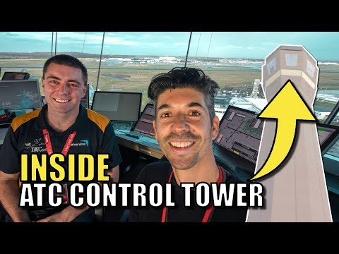 INSIDE an Air Traffic Control Tower
