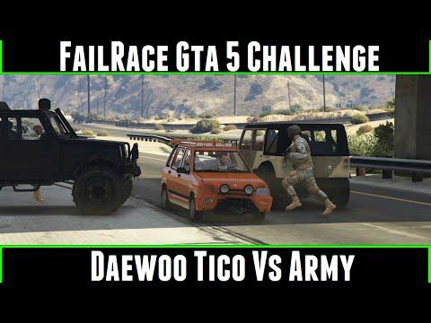 FailRace Gta 5 Challenge Daewoo Tico Vs Army
