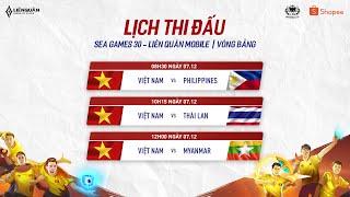 TRỰC TIẾP: VIỆT NAM vs MYANMAR - Vòng bảng SeaGames 30 - Garena Liên Quân Mobile