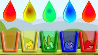 Angry Birds Drink Water 2 - DROP COLOR WATER TO ALL COLOR BIRDS!