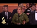 Adele Wins Album Of The Year Acceptance Speech 59th GRAMMYs