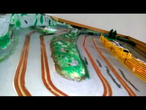 Home made rally slot track