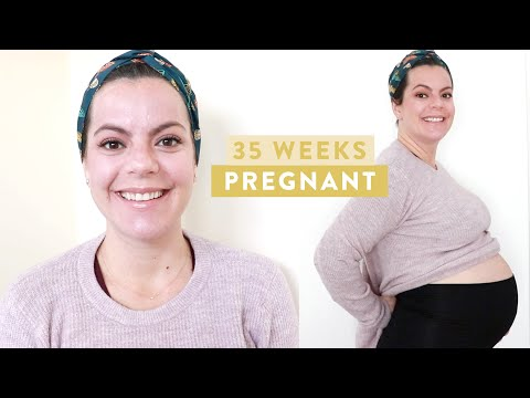 35 WEEKS PREGNANT | It's Getting REAL Around Here! | Heart Burn, Pubic Symphysis Pain and More!