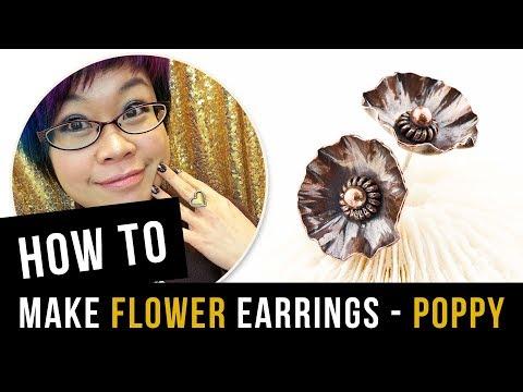 How to Make Flower Earrings - Poppy