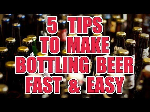 5 TIPS To Make BOTTLING Your BEER FAST & EASY! - Home Brew!