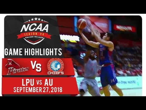 NCAA 94 MB: LPU vs. AU | Game Highlights | September 27, 2018