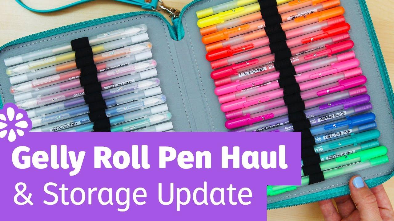 Gelly Roll Pen Haul Storage Update Sea Lemon Youtube