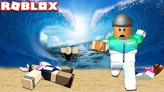 SURVIVE A 999,999 FT TSUNAMI WAVE IN ROBLOX