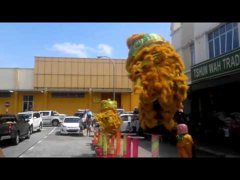 CNY 2016 Lion Dance sandakan  山打根强兴体育会