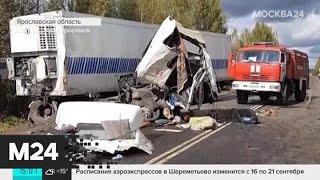 Смотреть видео Пострадавших в аварии под Ярославлем могут доставить в Москву - Москва 24 онлайн
