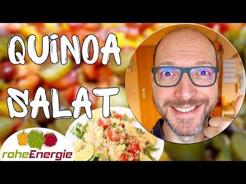 Vegan für Anfänger | Quinoa-Salat mit Tofuwürfeln & Vinaigrette