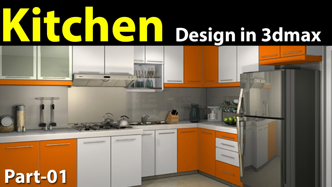 Charming Kitchen Design In 3d Max Part 01   YouTube