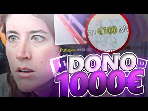 DONANDO 1000€ A STREAMERS !!!