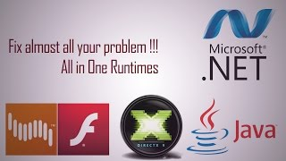 All in One Runtimes - Fix almost ALL your problems !!!