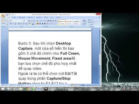 Hướng dẫn quay video màn hình bằng CyberLink Youcam 5.0 trở lên.