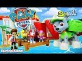 Paw Patrol Nickelodeon Sea Patrol & Mission Paw Pups Rescue Rocky from Sweetie in Sea Patroller