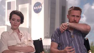 Ryan Gosling amp Claire Foy talk 39First Man39 Release date October 12 2018