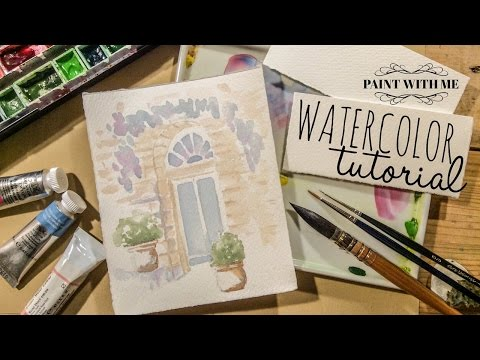 How to use Watercolors: European Doorway