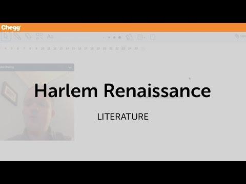 Harlem Renaissance   Literature   Chegg Tutors