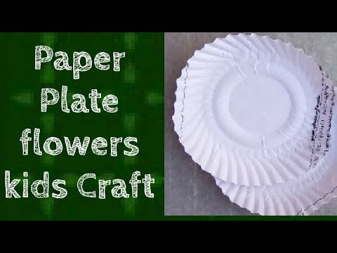 DIY|Paper Plate Flowers| Easy  flower Craft ideas for Kid's| Pre School Project