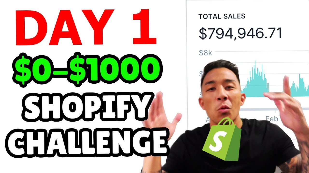 ???? DAY 1 | SHOPIFY DROPSHIPPING $0-$1000 CHALLENGE | RESEARCHING & PICKING A NICHE (STEP BY ST
