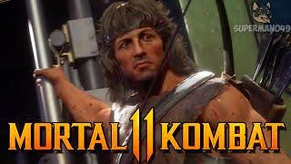 """THE WORST CHARACTER IN MK11! - Mortal Kombat 11: """"Rambo"""" Gameplay"""