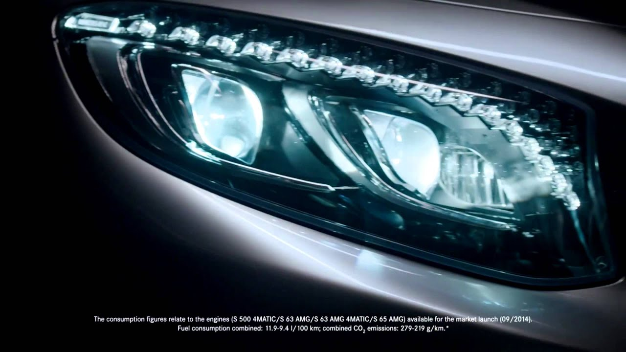 Mercedes benz tv s class coup commercial intelligent for Mercedes benz intelligent light system c class