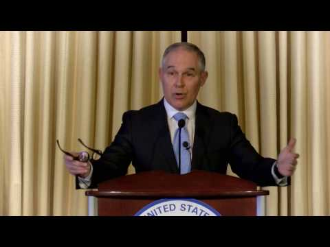 EPA Administrator Pruitt says America can be pro jobs and pro environment