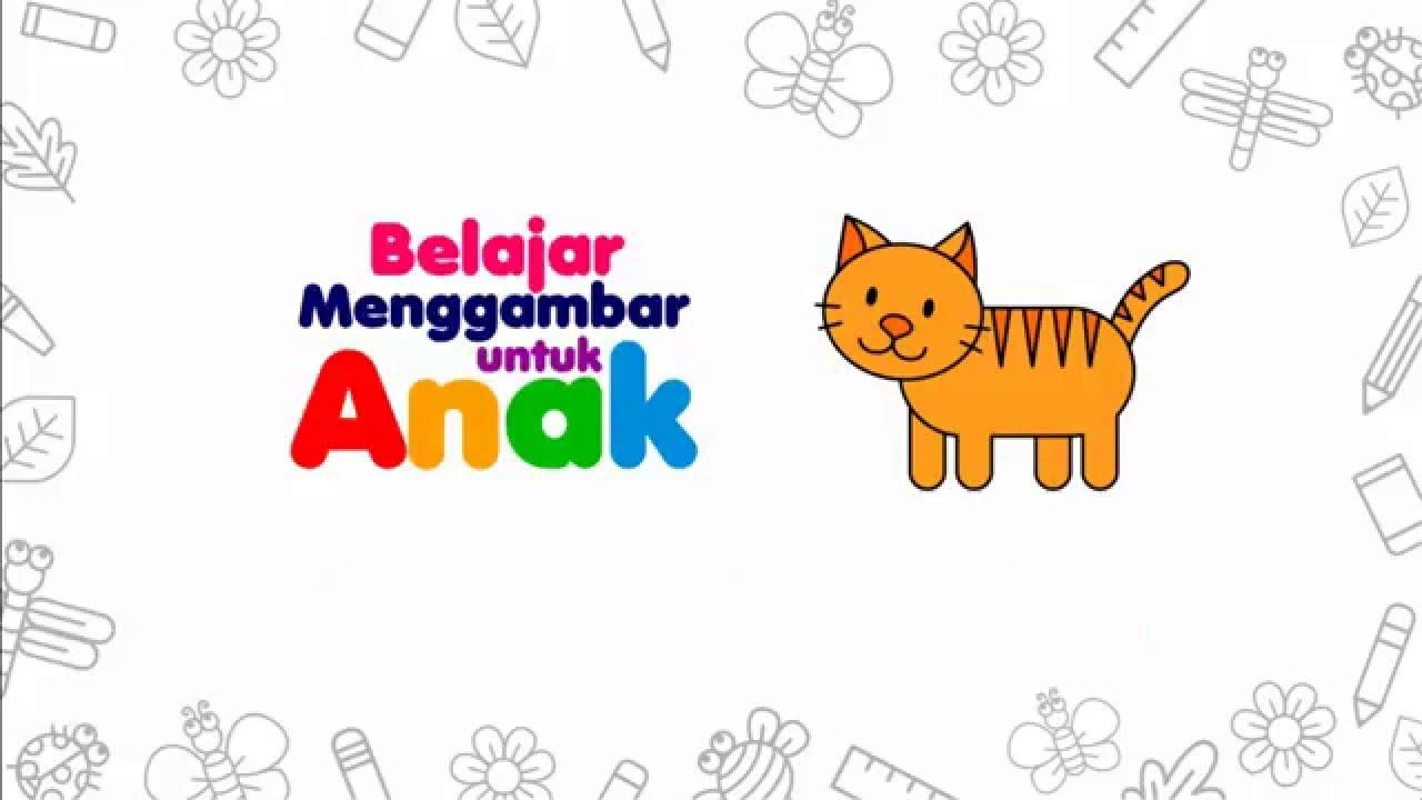Belajar Menggambar Kucing Belajar Menggambar Untuk Anak Youtube