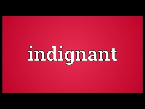 Indignant Meaning