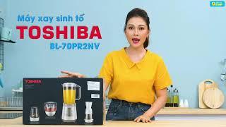 Máy xay sinh tố Toshiba BL-70PR1 (2 cối nhựa) và BL-70PR2 (3 cối nhựa), công suất 700W