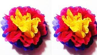 How To Make Simple Paper Flower || DIY Simple Paper Flower Tutorial || Crafts Design