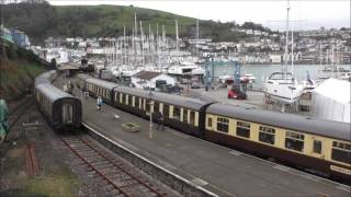 STEAM TRAIN ACTION AT KINGSWEAR 19 FEBRUARY 2017