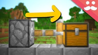 Experimenting with Pistons PUSHING CHESTS in PC Minecraft!