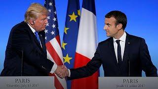 Canlı: Fransa Cumhurbaşkanı Macron ve ABD Başkanı Trump Paris'te ortak basın toplantısı düzenliyor