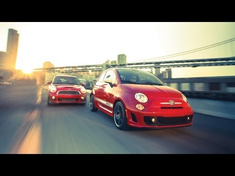 Car and Driver: Tested : 2012 Fiat 500 Abarth vs. 2012 Mini John Cooper Works  CAR and DRIVER