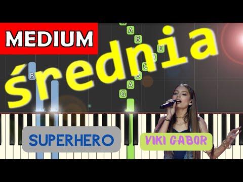 🎹 Superhero (Viki Gabor) - Piano Tutorial (średnia wersja) 🎹