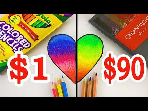 $90 LUXURY Color Pencils VS $1 CRAYOLA Color Pencils: Which is worth the money?