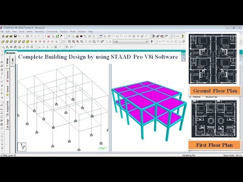Building Design (G+1) In STAAD Pro V8i Software thumbnail
